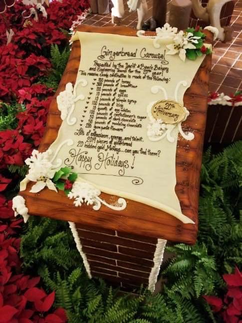 The Gingerbread Christmas Display at Disney's Beach Club Resort! 8