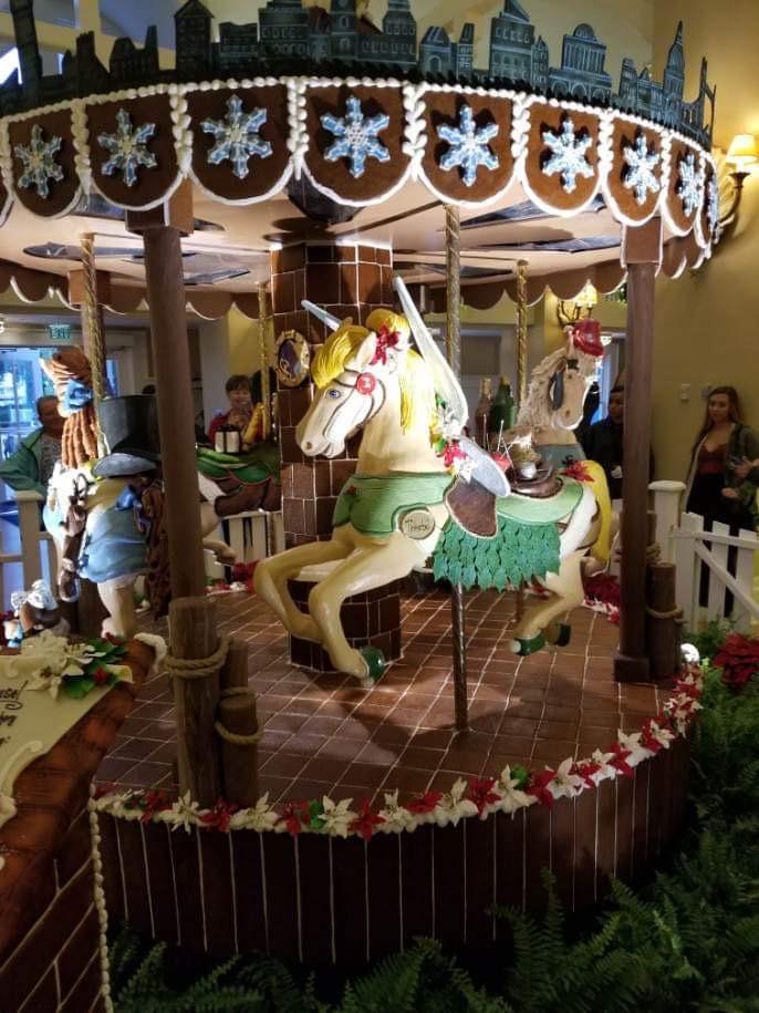 The Gingerbread Christmas Display at Disney's Beach Club Resort! 1