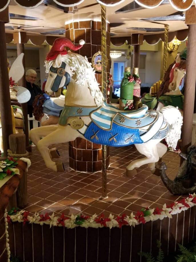 The Gingerbread Christmas Display at Disney's Beach Club Resort! 6