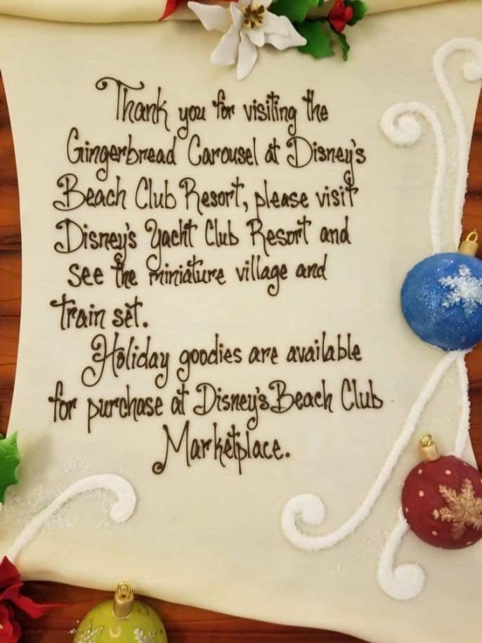 The Gingerbread Christmas Display at Disney's Beach Club Resort! 2