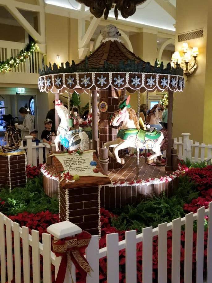 The Gingerbread Christmas Display at Disney's Beach Club Resort! 3
