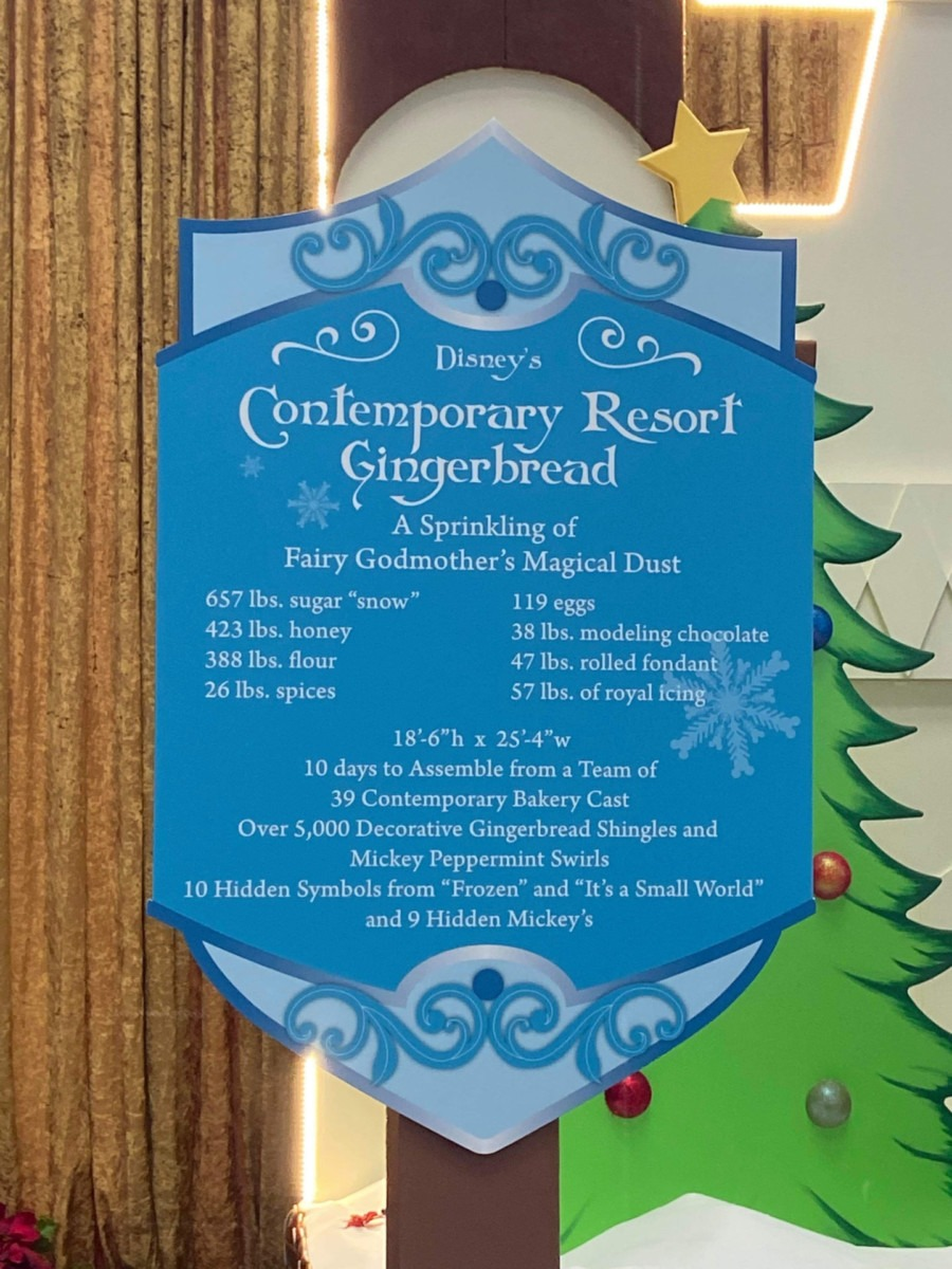 The Gingerbread Display is up at Disney's Contemporary Resort! #disneyholidays 2
