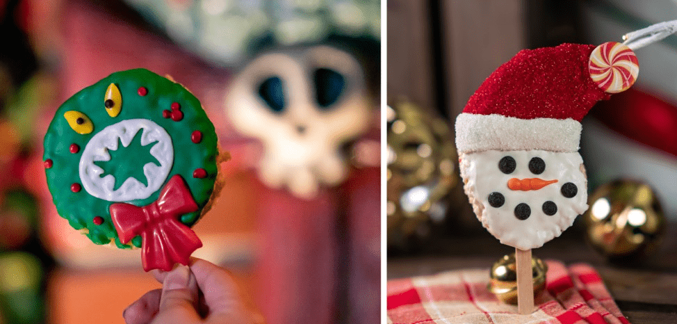 Haunted Mansion Holiday Wreath Crispy Treat for 2019 Holidays at Disneyland Resort