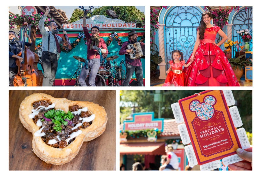 Collage of Disney Festival of Holidays experiences
