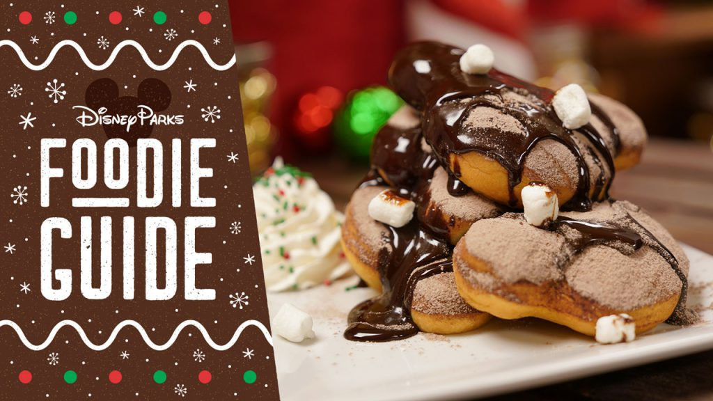 Foodie Guide to Holidays 2019 at Disneyland Park - featuring Hot Chocolate Beignets