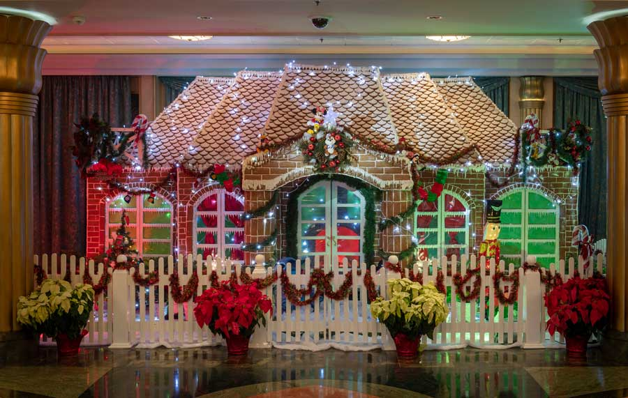 Disney Cruise Line Holiday Gingerbread Display