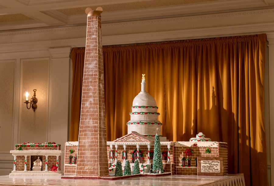 Holiday Gingerbread Display at The American Adventure at Epcot