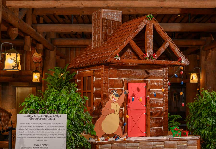 Holiday Gingerbread Display at Disney's Wilderness Lodge