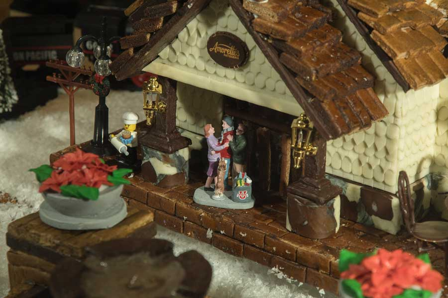 Gingerbread Display at Amorette's Patisserie at Disney Springs