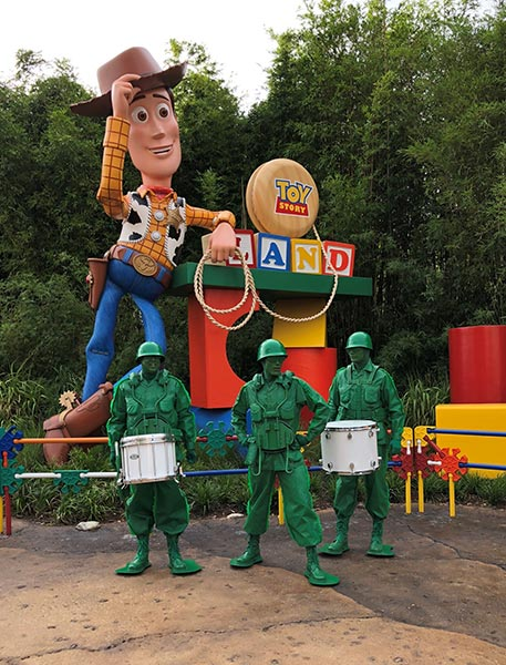 Green Army Drum Corps - Toy Story Land at Disney's Hollywood Studios