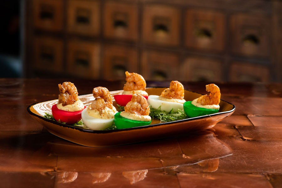 C9 Light Deviled Eggs at Jock Lindsey's Holiday Bar at Disney Springs