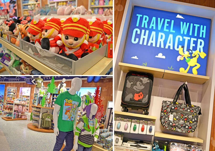 Merchandise at Magic of Disney store at Orlando International Airport