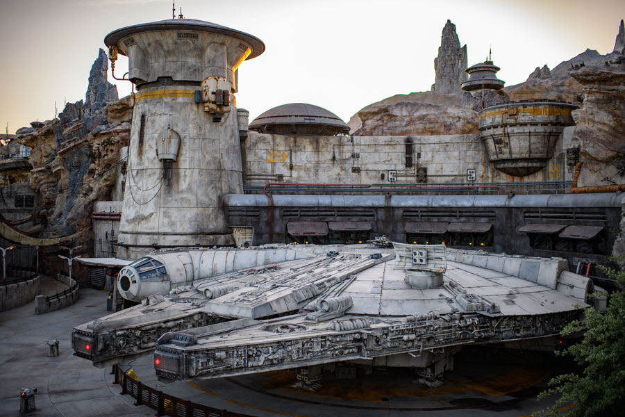 Millennium Falcon in Star Wars: Galaxy's Edge