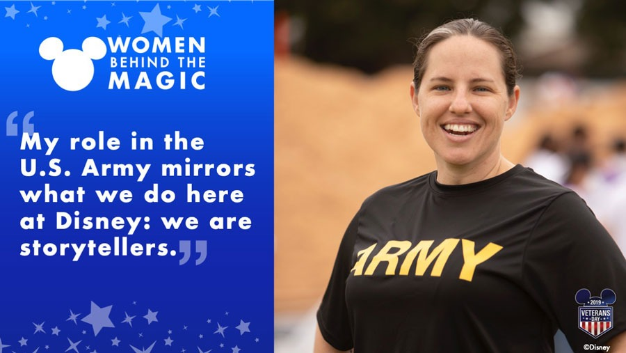 "Women Behind the Magic: ""My role in the U.S. Army mirrors what we do here at Disney: we are storytellers."" - Briana Foster"