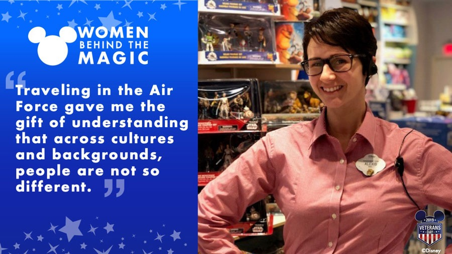 "Women Behind the Magic: ""Traveling in the Air Force gave me the gift of understanding that across cultures and backgrounds, people are not so different."" - Alexis Lohmann"