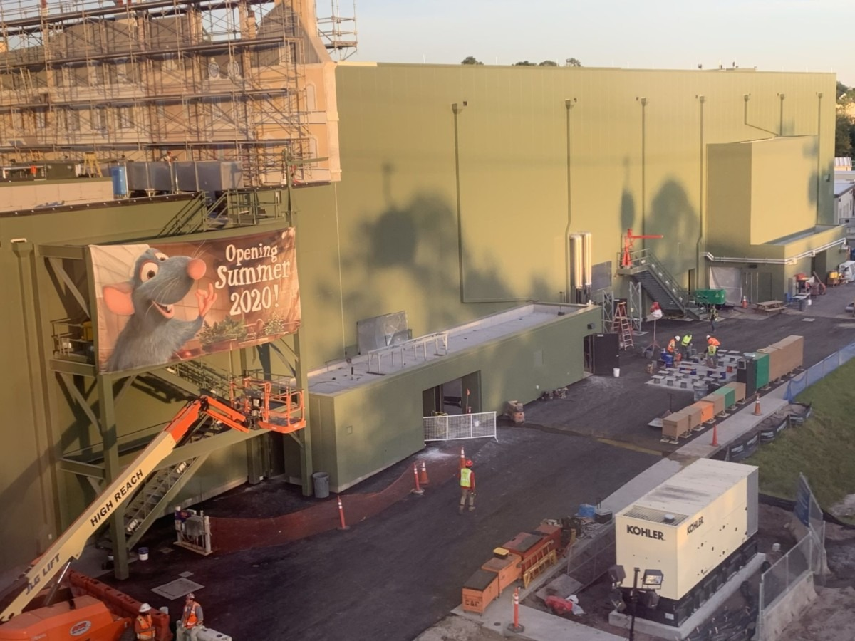 Construction Update for the Ratatouille Attraction at Epcot (pics) 2