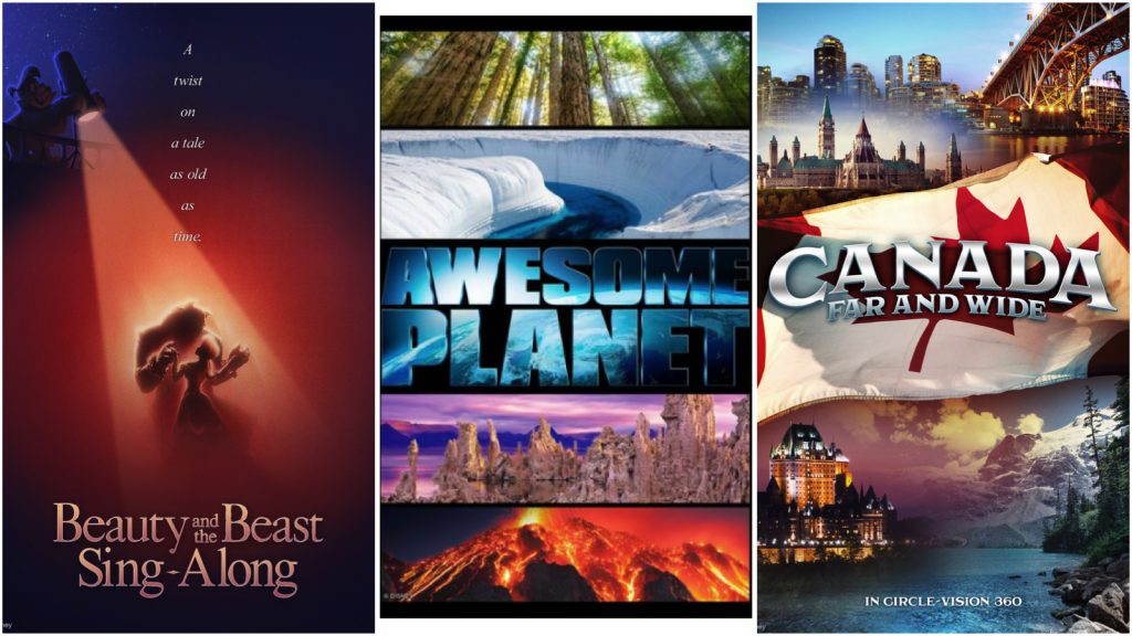 Collage of movie posters coming to Epcot