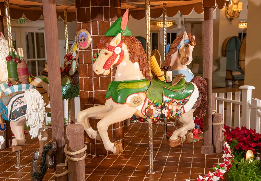 Gingerbread horse at Disney's Beach Club Resort