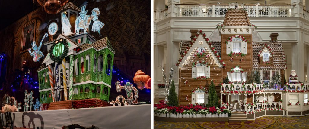 Gingerbread Displays from Disneyland and Walt Disney World Resorts
