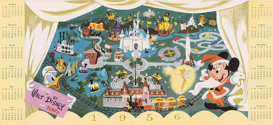 1955 Disneyland Christmas Card