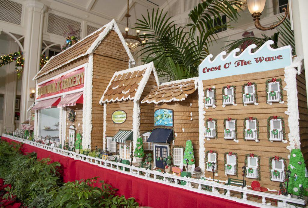 Disney's BoardWalk Gingerbread display