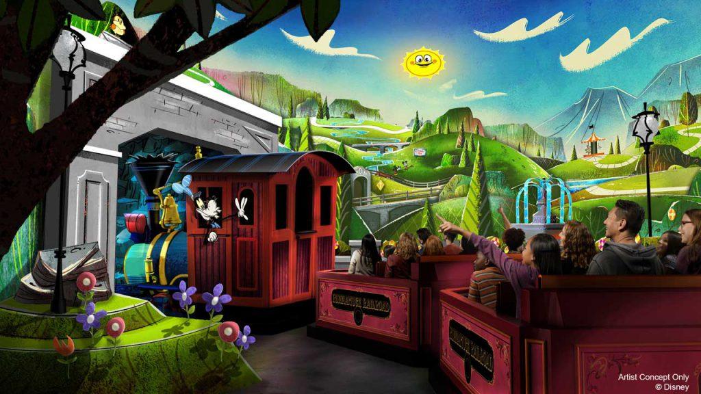 Mickey & Minnie's Runaway Railway rendering