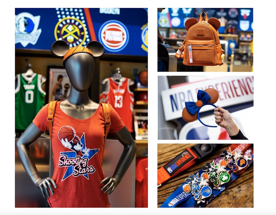 Merchandise from the NBA Store at Disney Springs