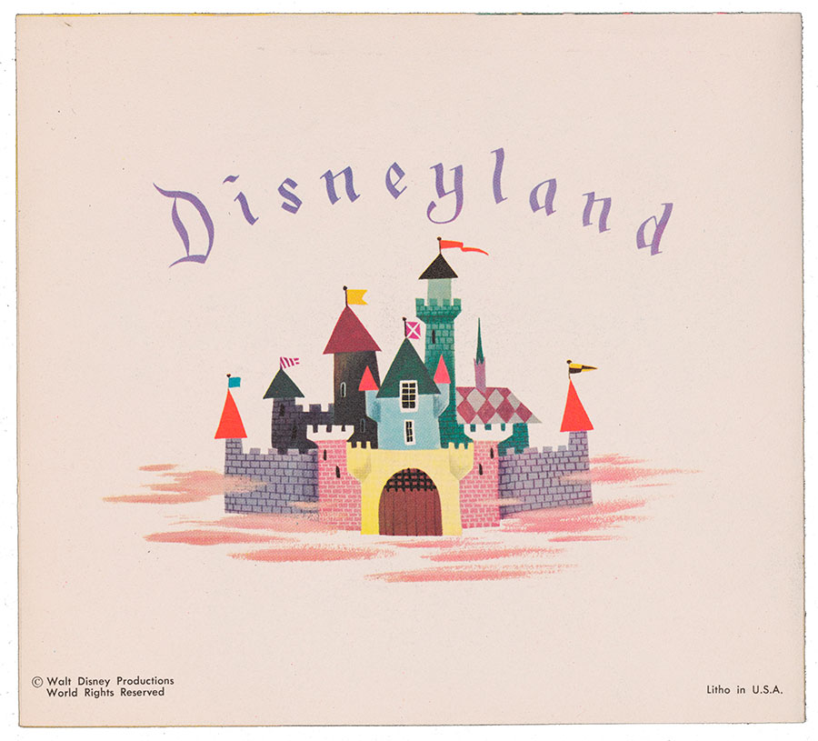 1954 Disneyland Christmas Card