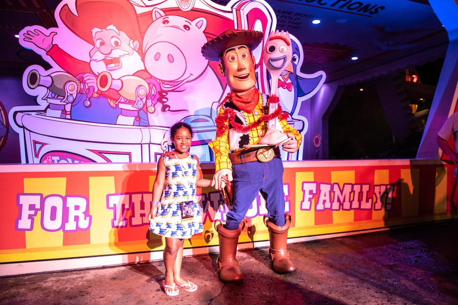 Meeting Woody and Forky at Disney's Hollywood Studios