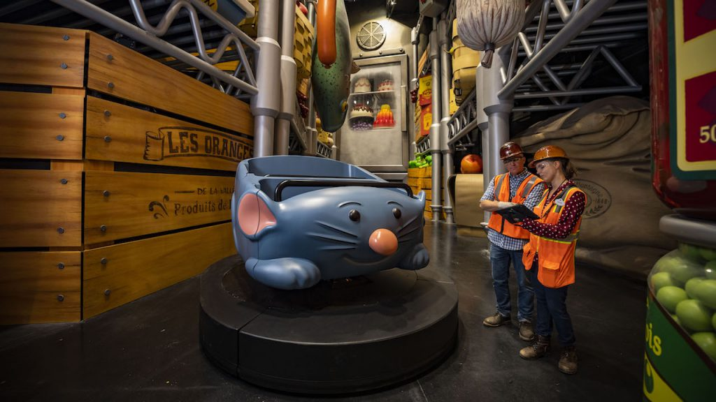 Ride vehicle for Remy's Ratatouille Adventure