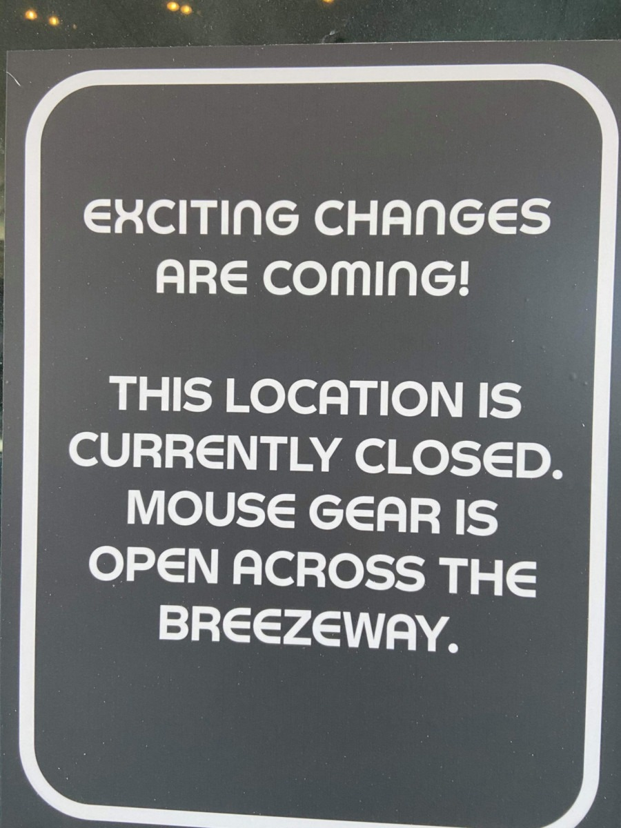 Mouse Gear at Epcot CLOSED for Refurb, Temp Location is Open 3