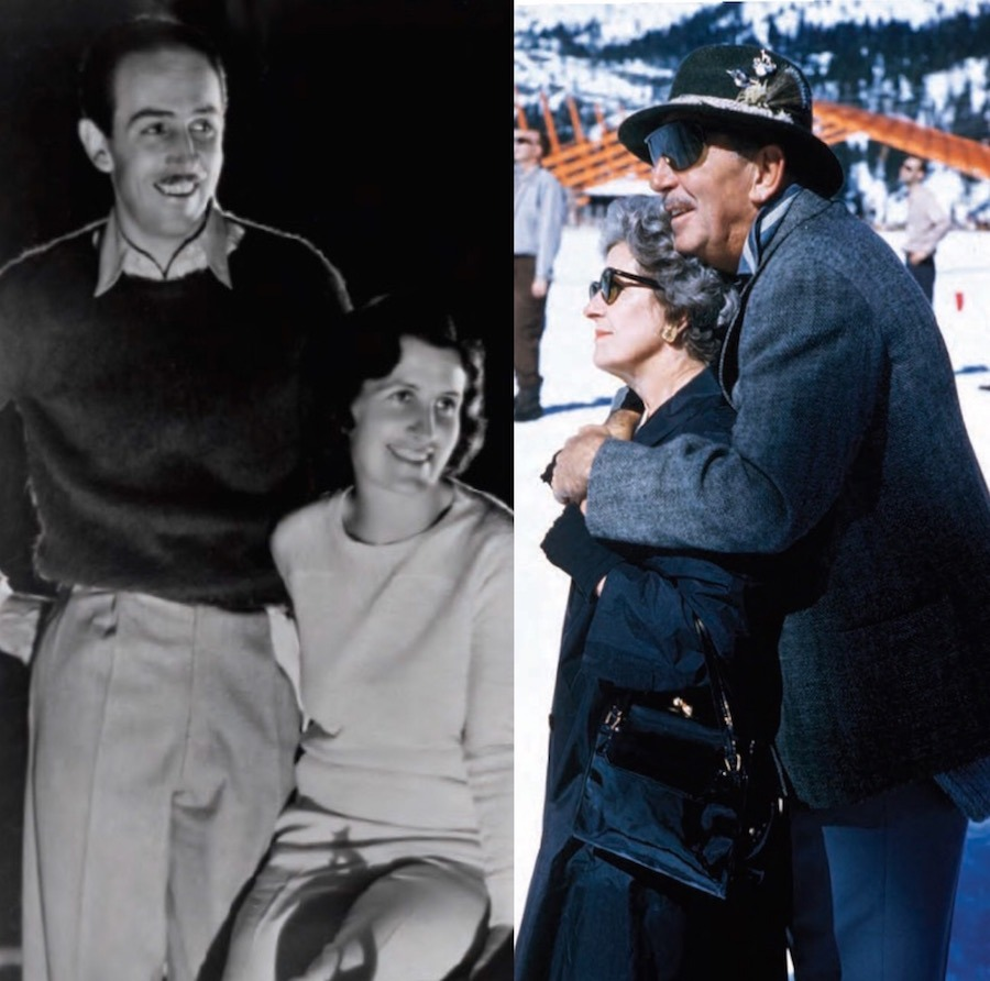 Walt Disney and Lillian Disney across four decades, sharing life, love, and laughter. © Disney