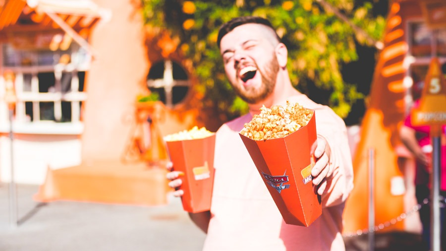 Popcorn from Cozy Cone Motel at Disney California Adventure Park