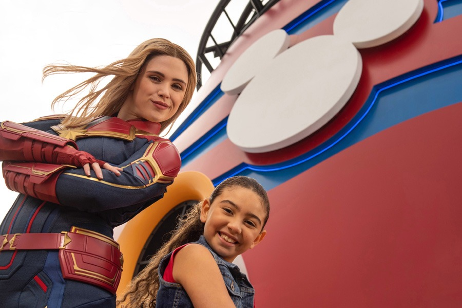Character Encounters aboard Disney Cruise Line: Captain Marvel