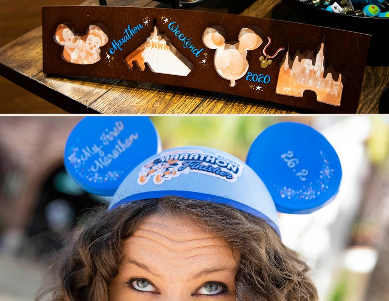 2020 Walt Disney World Marathon Weekend Merchandise at Disney Springs - Personalized frame and Ear Hat