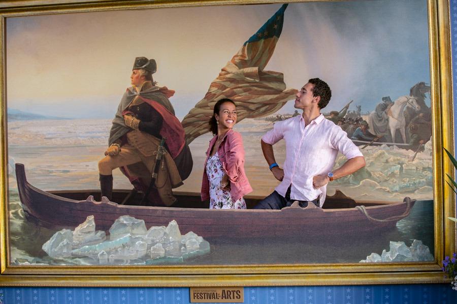 Epcot International Festival of the Arts Photo Op: American Adventure Pavilion:  Washington Crossing the Delaware – Emanuel Gottlieb Leutze