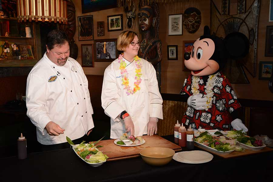 Cheff Jeff and Mickey Mouse at Disney's Polynesian Village Resort