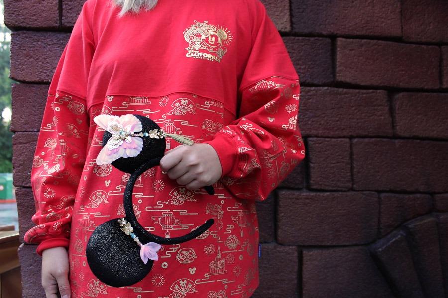 Lunar New Year Spirit Jersey and Minnie Mouse ear headband