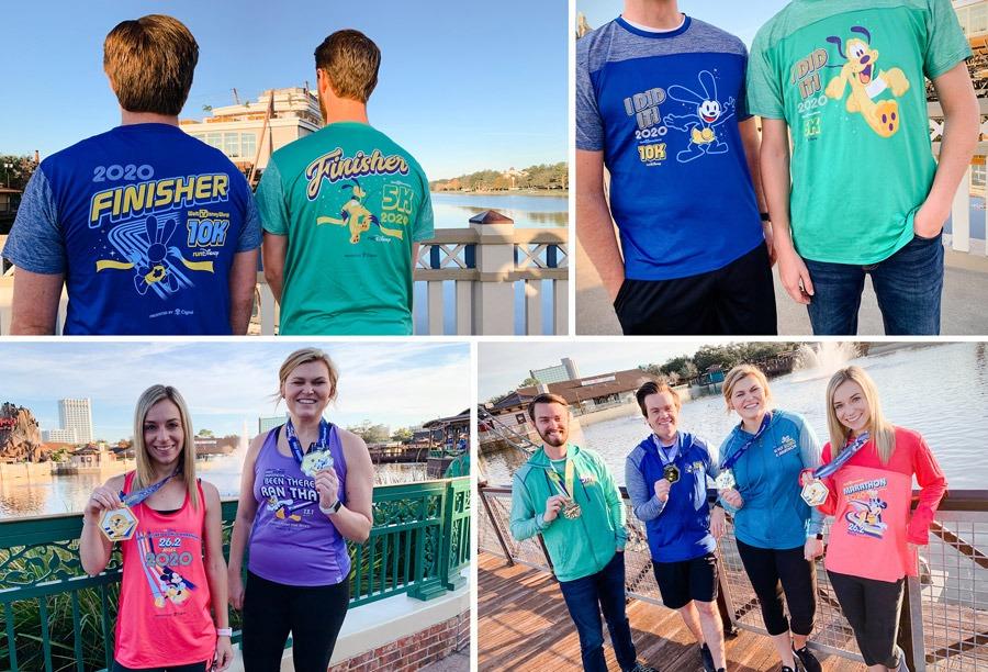 Collage of 2020 Walt Disney World Marathon Weekend Merchandise