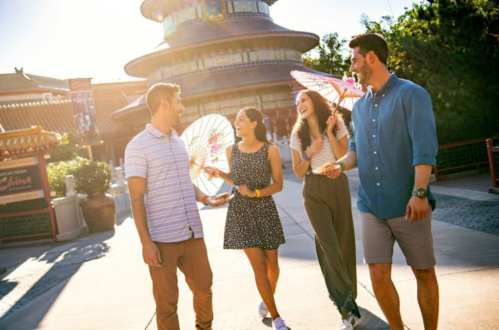 College students at Epcot