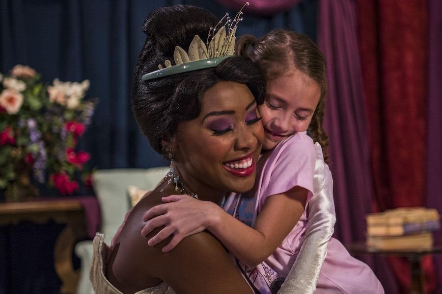Princess Tiana at Princess Fairytale Hall at Magic Kingdom Park