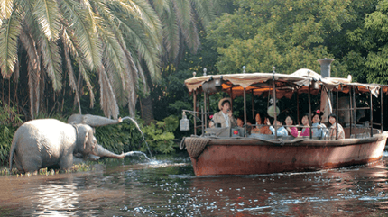 Jungle Cruise Boat Takes In Water at Disney World 1