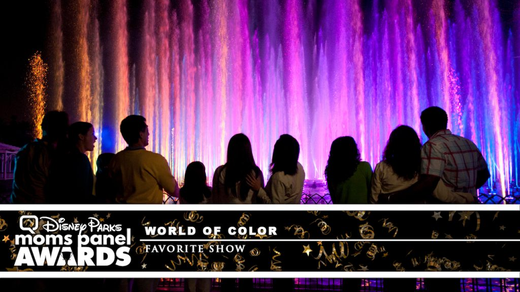 """Guests watching """"World of Color"""" at Disney California Adventure Park"""