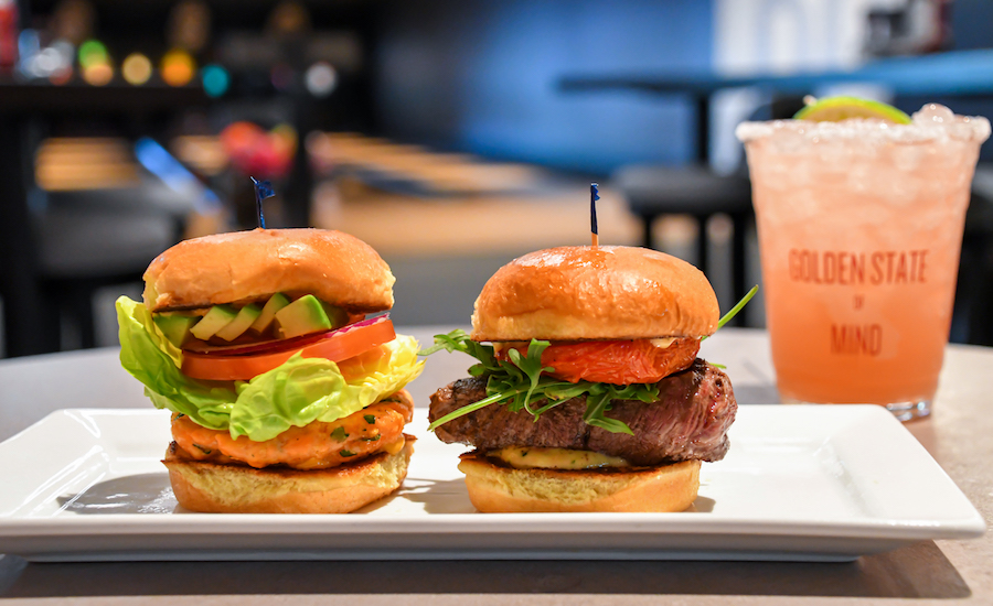 Surf and Turf Slider Duo from Splitsville Luxury Lanes at the Downtown Disney District for Disney California Adventure Food & Wine Festival
