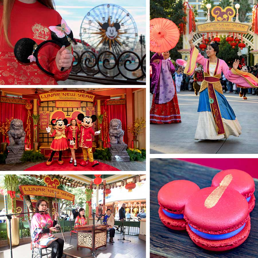 Lunar New Year celebrations at Disney California Adventure park