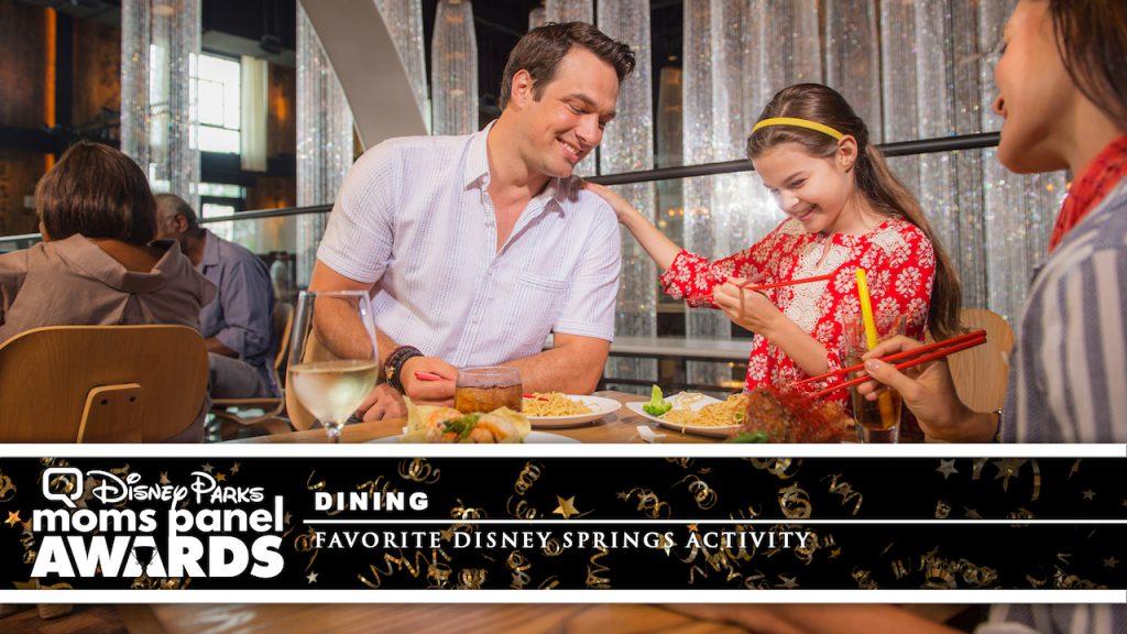 Family eating at Disney Springs