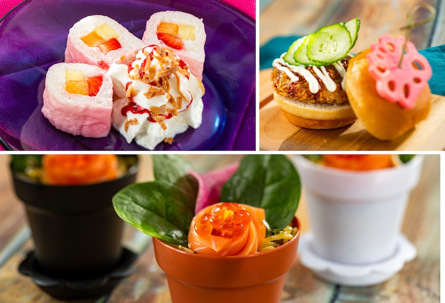 Offerings from the Hanami Outdoor Kitchen for the 2020 Epcot International Flower & Garden Festival