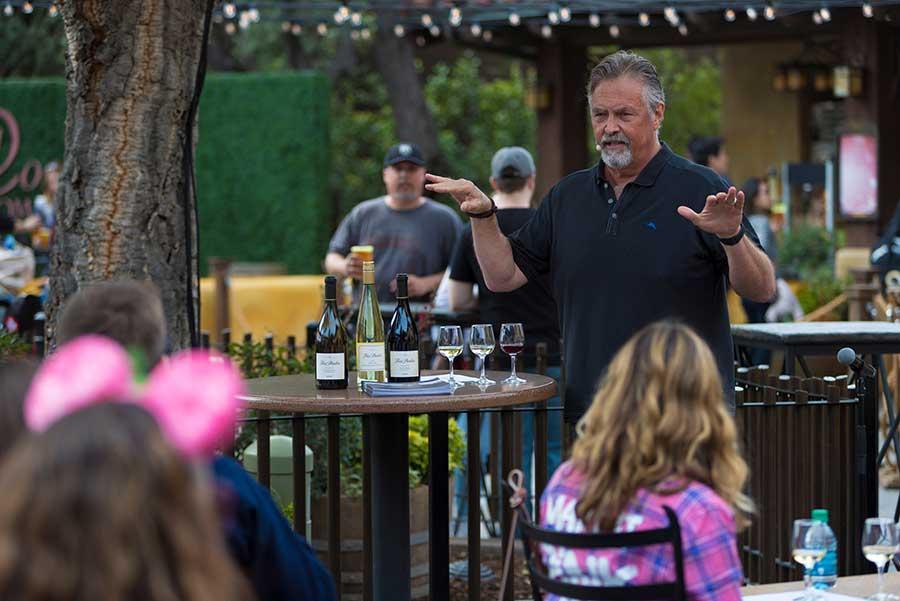 Beer and spirits seminars, Sonoma Terrace at Disney California Adventure park.