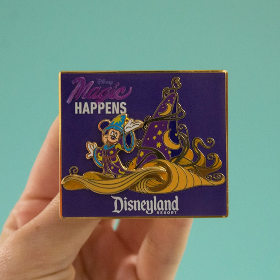 """Magic Happens"" pin"