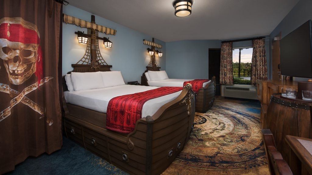 Pirate Rooms at Disney's Caribbean Beach Resort